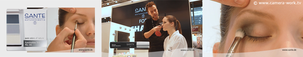 Messefilm Messevideo Videoproduktion Sante for Michalsky / Biofach Vivaness / Video-MakeUpTutorial