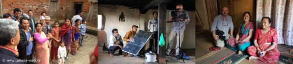 Videodreh im Geburtshaus von Prof.Dr. Ram Shresta in Bhaktapur
